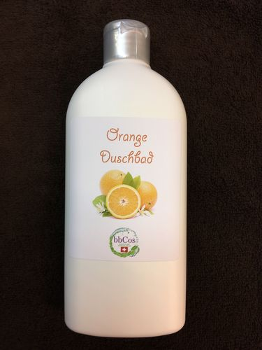 Orange Duschbad